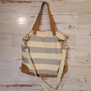 Merona stripe tote bag